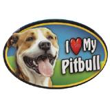 Dog Breed Image Magnet Oval Pitbull