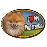 Dog Breed Image Magnet Oval Pomeranian