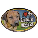 Dog Breed Image Magnet Oval Rhodesian Ridgeback