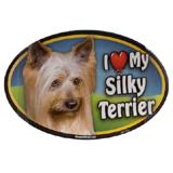 Dog Breed Image Magnet Oval Silky Terrier