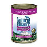 Natural Balance Venison Sweet Potato Canned Dog Food case