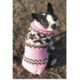 Handmade Dog Sweater Wool Aspen Pink XSmall