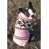 Handmade Dog Sweater Wool Aspen Pink Small