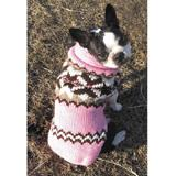 Handmade Dog Sweater Wool Aspen Pink Medium