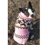 Handmade Dog Sweater Wool Aspen Pink XLarge