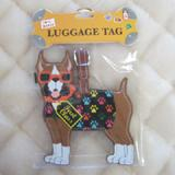 Luggage Tag I Love My Boxer
