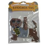 Luggage Tag I Love My Dachshund