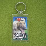 Plastic Keyring Afghan Hound