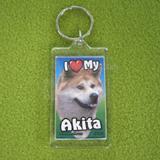 Plastic Keyring Akita