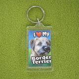 Plastic Keyring Border Terrier