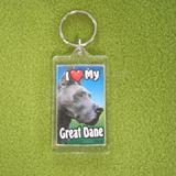 Plastic Keyring Great Dane