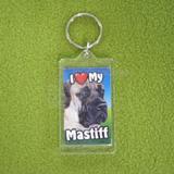 Plastic Keyring Mastiff