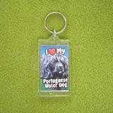 Plastic Keyring Portuguese Water Dog