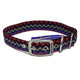 Hamilton Nylon Dog Collar Black Weave 1 x 22-inch