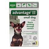 Bayer Advantage II Dog 1-10 6pk