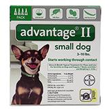 Advantage 2 Dog 3-10 lb 4pk
