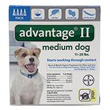 Advantage 2 Dog 11-20 lb 4pk