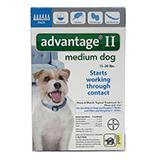 Bayer Advantage II Dog 11-20 lb 6pk