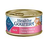 Blue Cat Ocean Fish/Tuna Pate Canned Cat Food 5.5-oz. Each
