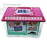 Plastic Small Animal Pen-Carrier Large