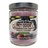 Pet Odor Eliminator Mulberry and Spice Candle