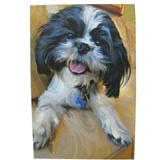Robert McClintock Licensed Garden Flag Shih Tzu