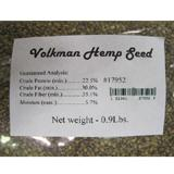 Volkman Sterilized Hemp Seed For All Seed Eating Birds .9lb.