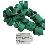 Poultry Numbered Leg Bands Green Size 12 Numbered 1-25