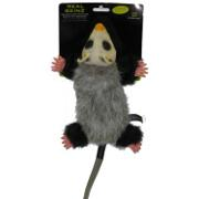 Hyper Pet Real Skinz Opossum Stuffing Free Dog Toy