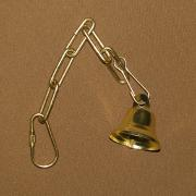 Small Metal Brass-colored Bell for Small Birds