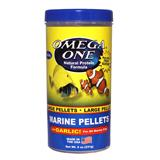 Omega One Garlic Marine Large Pellets Fish Food 9 ounce