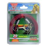 Medium Weight Tie-Out Cable for Small to Medium Dogs 20-ft.