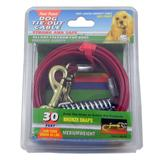 Medium Weight Tie-Out Cable for Small to Medium Dogs 30-ft.