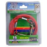 Lightweight Tie-Out Cable for Small Dogs and Puppies 15-ft.