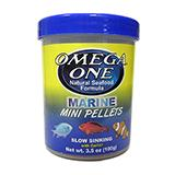 Omega Garlic Marine Sinking Mini Pellets Fish Food 3.5oz