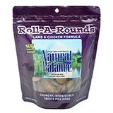 Natural Balance Lamb Roll-A-Round Baked Dog Treats 8oz.