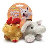 Booda Squatter Moose and Elephant Dog Toy 2 Pack