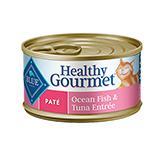 Blue Cat Ocean Fish/Tuna Pate Canned Cat Food 5.5-oz. Case