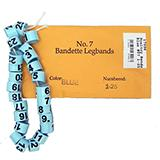 Poultry Numbered Leg Bands Blue Size 7 Numbered 1-25