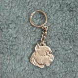 Pewter Key Chain I Love My Brussels Griffon
