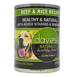 Dave's Naturally Healthy Beef and Rice Canned 13oz case