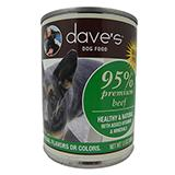 Dave�s 95% Premium Meats Canned Dog Food Beef 13oz each