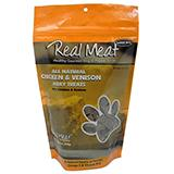 Real Meat All Natural Chicken and Venison Dog Treats 12oz.