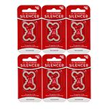 Dog Tag Silencer Large Bone Shape 6 pack