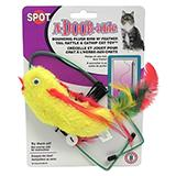 A-door-able Cat Toy Bird Plush/Feather 3 Pack