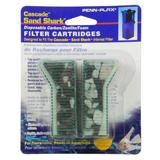Penn Plax Sand Shark Aquarium Filter Crbn/Floss Crtridge 6pk
