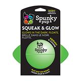 Spunky Pup Squeak and Glow Football Dog Toy