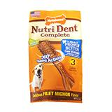 Nutrident Filet Mignon Edible Dental Dog Chews Large 3 ct