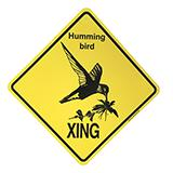 Crossing Sign Hummingbird Xing