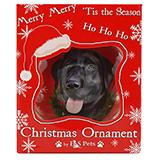 E&S Imports Shatterproof Animal Ornament Black Lab